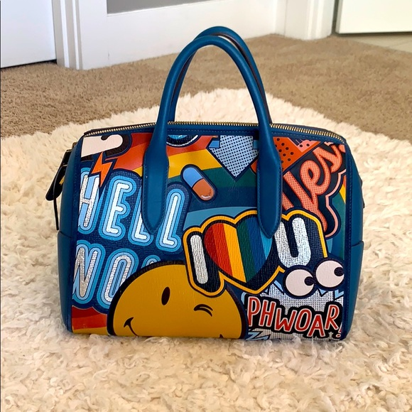 Anya Hindmarch Graffiti Graphic Smiley Doctor Bag